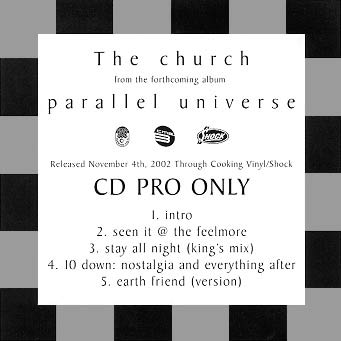 The Church - Parallel Universe Promo EP Cover