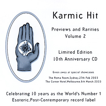 Karmic Hit Previews and Rarities Volume 2 Cover