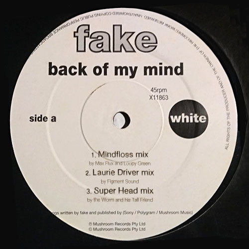 Fake - Back Of My Mind LP Cover