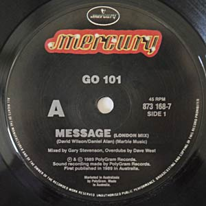 GO-101 - Message Side A Label