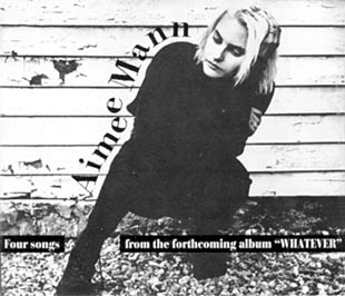 Aimee Mann - Whatever Pre-Release Promo EP Cover