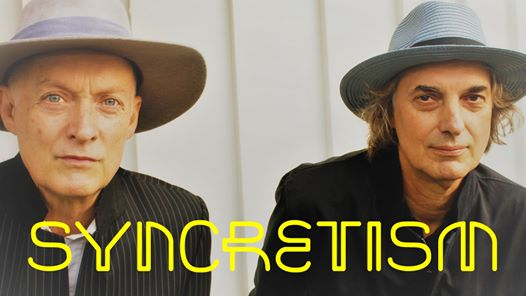 Syncretism publicity photo - Dave Scotland (left) and Peter Koppes (right)